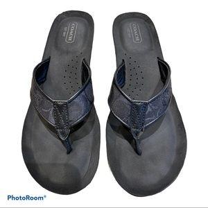 """Authentic Coach """"Jolie"""" wedge sandals SZ 8.5 Black"""